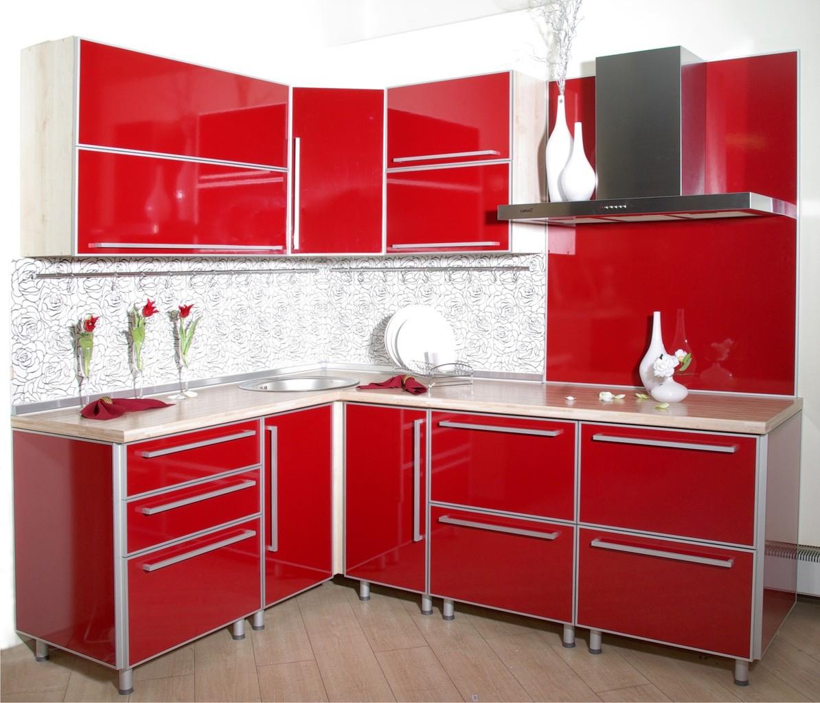 Пластиковая кухня бордо